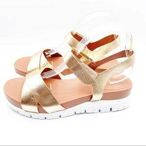 Cole Haan Original Grand Gold Leather Sandals